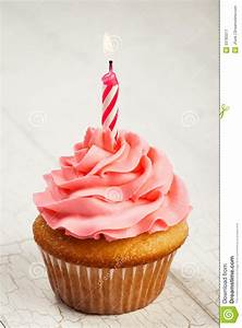 Birthday Cupcake stock image. Image of food, buttercream ...