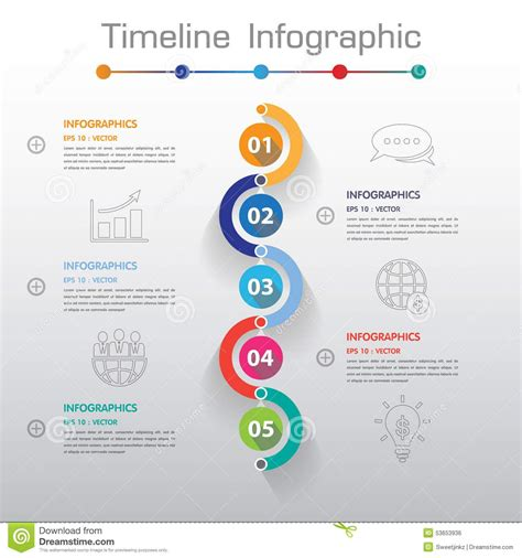 timeline web template free long shadow design clean number timeline template graphic