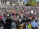 Protesters in Olympia, Washington today. State Troopers ...
