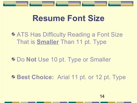 resume font size 10 or 11 optimize your resume for applicant tracking systems