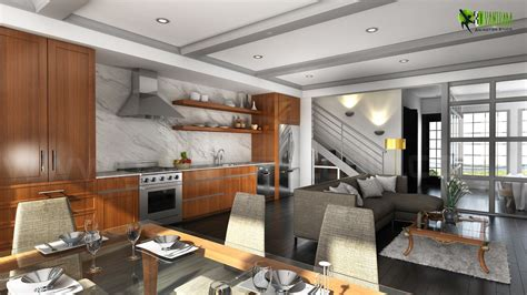 Home Interior 3d View : Beautifully Bold 3d Interior Kitchen Design View