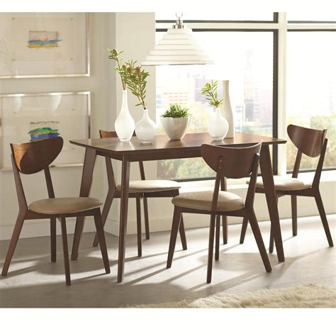 coaster kersey 5 piece dining with angled dunk bright furniture dining 5 piece sets