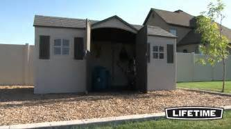 lifetime 15x8 garden storage shed 6446 youtube