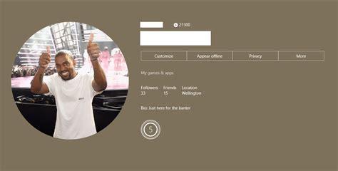 Xbox Now Allows Custom Gamerpics Easy Choice For Me Kanye