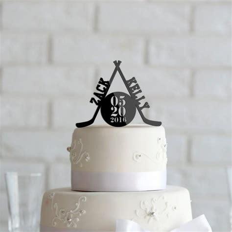 hockey theme wedding  anniversary cake topper