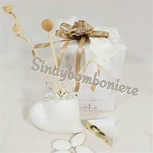 PROFUMATORE Bomboniere Porcellana E Cristallo Cuore Bianco
