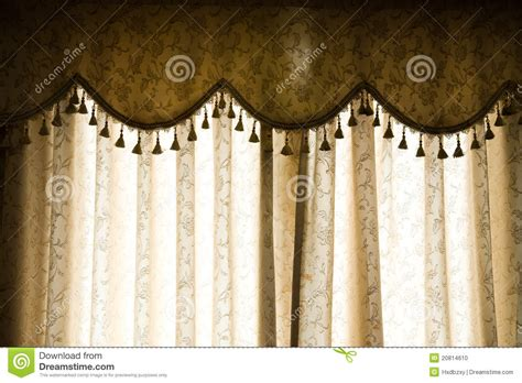 Luxury Curtain Stock Photo   Image: 20814610