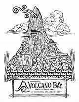 Coloring Volcano Pages Park Water Bay Universal Drawing Theme Disney Krakatau Books Orlando Monorail Comic Amusement Universalorlando Hulk Volcanoes Printable sketch template