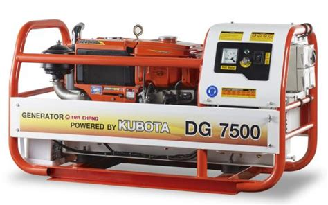review  kubota dg portable generator