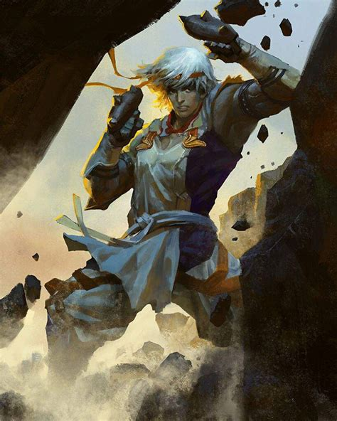 trainee monk characters art mobius final fantasy