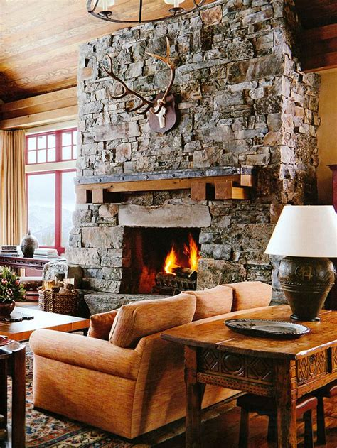 living room ideas with fireplace 20 cozy rustic inspired interiors Rustic