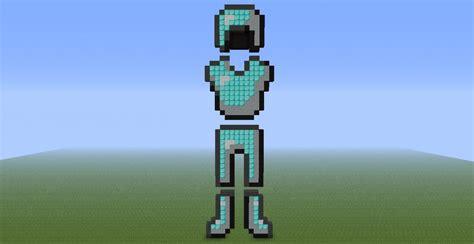Diamond Armor Pixel Art Minecraft Project