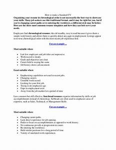 how to make a standard cv With how to make a standard resume
