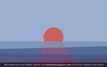 Sunset Minimalist Minimal Desktop Simple Wallpapers Free4kwallpapers