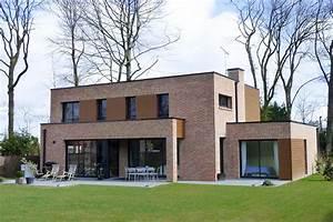 maison cubique enduit et briques grises With entree de jardin moderne 5 maison semi cubique en briques