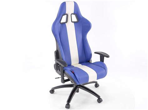 Fk Automotive Racecar 13 Blue/white Racing Office Chair
