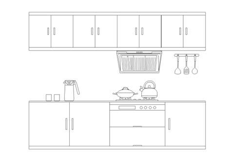 Simple Kitchen Elevation Design  Free Simple Kitchen