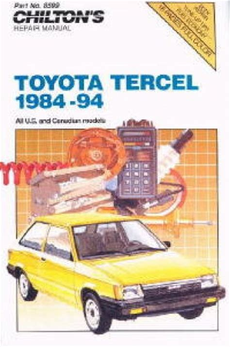 chilton car manuals free download 1996 toyota tercel electronic valve timing chilton toyota tercel 1984 1994 repair manual