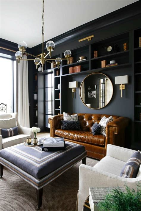 gorgeous living rooms  black walls  create cozy