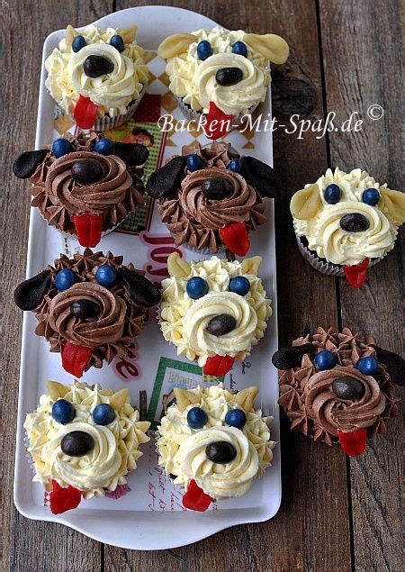 pin  britta ff  rezepte backen hund cupcakes