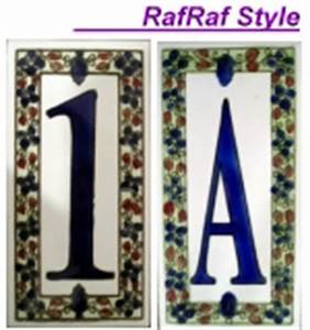 Numbers and letters house signs ceramic tiles mosaic for Ceramic tile numbers and letters