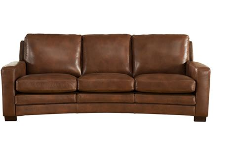Best Leather For Sofa by Joanna Top Grain Brown Leather Sofa