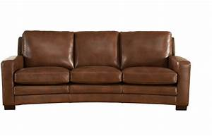 Joanna full top grain brown leather sofa for Best leather sofa