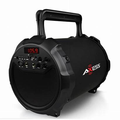 Axess Portable Bluetooth Speaker Outdoor Cylinder Subwoofer