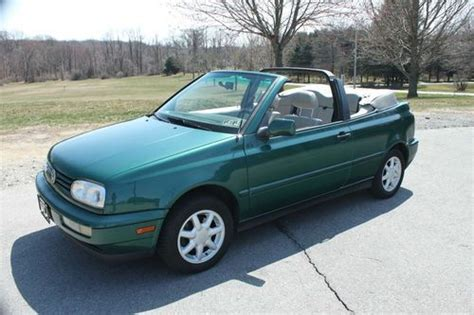 volkswagen convertible cabrio sell used 1997 volkswagen cabrio high line convertible 2