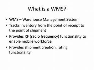 PPT - WMS – Warehouse Management Systems PowerPoint ...