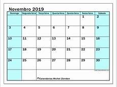 Calendários novembro 2019 DS Michel Zbinden PT