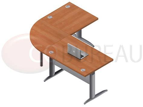 bureau pro ensemble bureau cadre 120 cm pro métal avec angle de