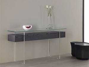 Console Murale Avec Tiroir : table console tiroir ~ Teatrodelosmanantiales.com Idées de Décoration