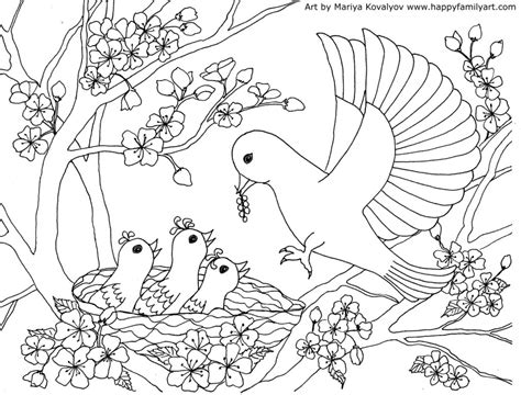 birds coloring pages birds coloring page