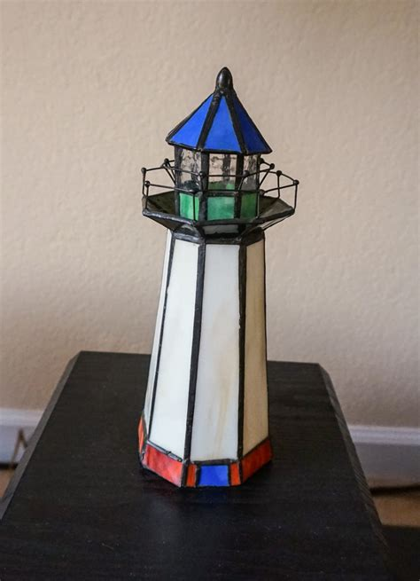 stained glass lighthouse l stained glass lighthouse night light collectors weekly