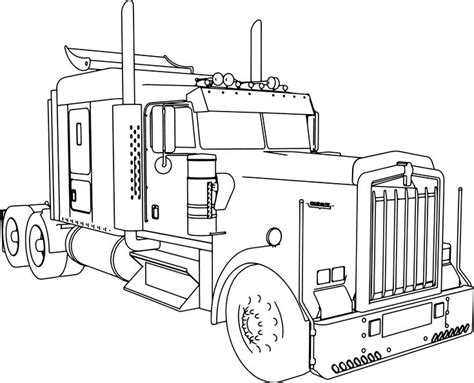 nice kenworth   long trailer truck coloring page truck coloring pages kenworth trucks