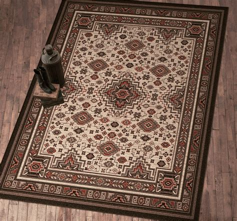 Wildlife Rugs: 11 x 13 American Lodge Rug Black Forest Decor
