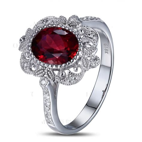 jeenjewels vintage 1 50 carat ruby and engagement ring in white gold for