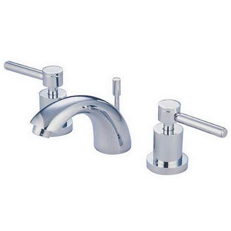 kingston brass modern 4 in minispread 2 handle bathroom