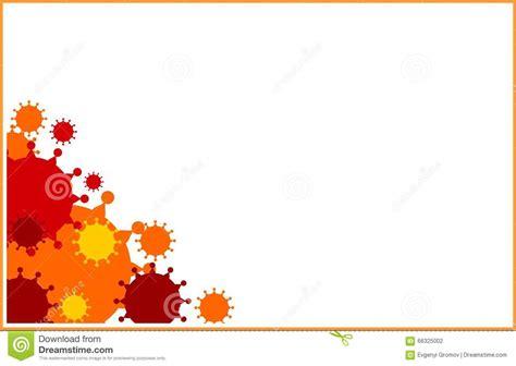 vector brochure report  flyer design template virus