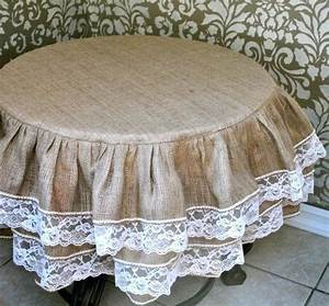 9  Ideas For Making Burlap Tablecloths