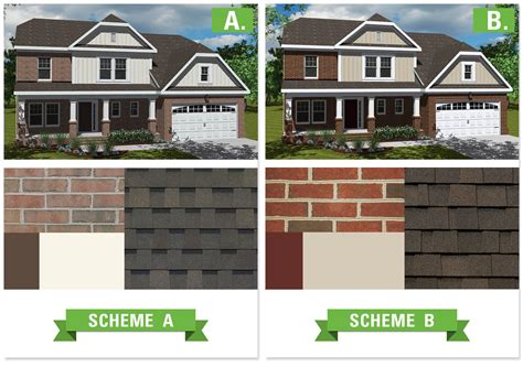 exterior house color schemes with brick clark