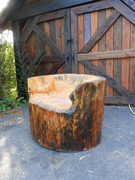 stump chair tree stump projects