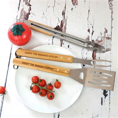 personalised barbecue tools by auntie mims