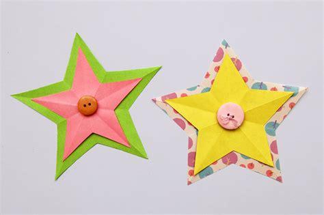 folding paper stars kids crafts fun craft ideas