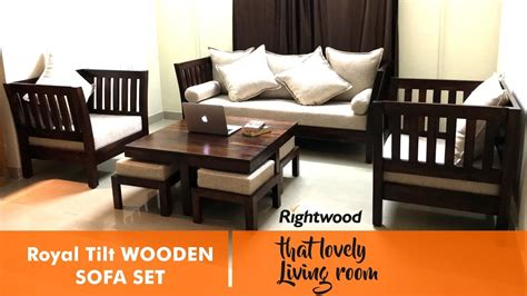 sofa set design royal tilt wooden sofa  rightwood
