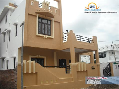 traditional 1 duplex wall indian home design elevation kerala home design