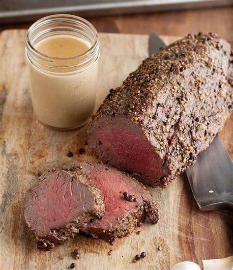Cooking a beef tenderloin roast is weeknight easy but weekend special. Classic beef tenderloin with garlic sauce. @goboldwithbutter | Beef tenderloin roast, Beef ...
