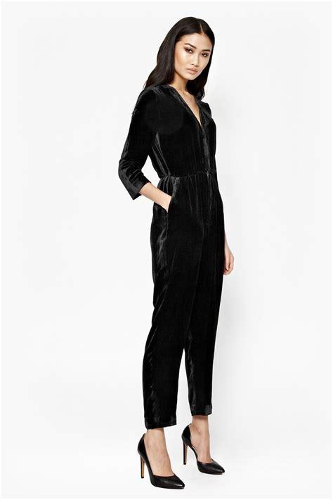 black velvet jumpsuit jet velvet jumpsuit collections connection