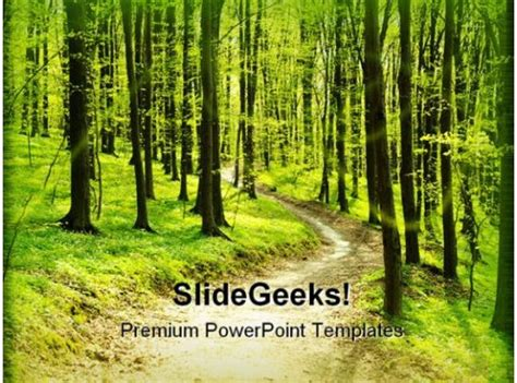 forest pathway geographical powerpoint templates